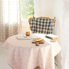 핑크 살구꽃 면 식탁보 테이블보 덮개