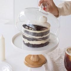 홈파티 유리돔 케이크 스탠드 트레이 케익 받침대