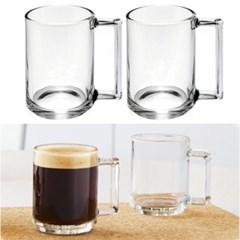 루미낙 투명머그컵 2P세트 내열유리머그 홈카페 에스프레소잔