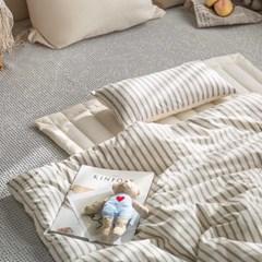 [그래이불] 프리미엄 오가닉 스트라이프 어린이집 낮잠이불세트