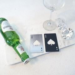 고급스러운 디자인 스페이드A 포커 카드 모양 오프너