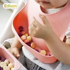 스스로 자기주도 아기 이유식용품 턱받이 핑크