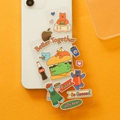 젤리 베어 폰 데코 필름 (iPhone 12 Pro / 12) - 01 Burger