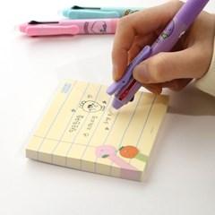 핑크풋 당근친구들 지워지는 3색펜(0.5mm)