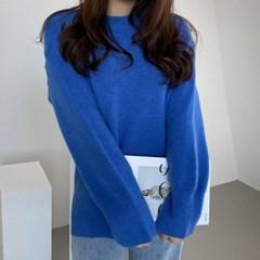 여자 겨울 캐시미어 스웨터 비비드 모헤어 티셔츠