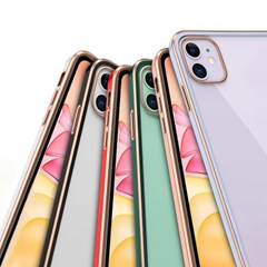 하푼 아이폰 11 골드 라인 큐브 슬림핏케이스