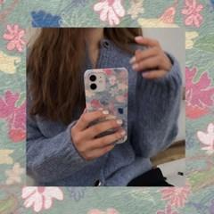 [뮤즈무드] knit vintage flower 아이폰케이스