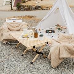 까사마루 자작나무 롤 테이블 M