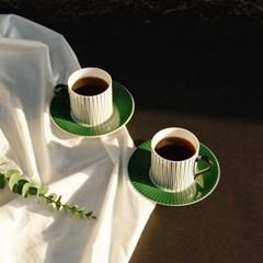 한국도자기 프라우나 루체 2인 커피세트 4p 컵앤소서