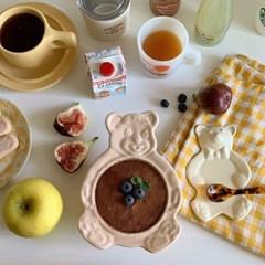 빈티지 베어 볼 & 플레이트 (곰돌이 그릇 & 접시)