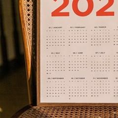 2021년 레드 포스터 캘린더 2size