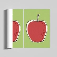 레트로 사과 감성 일러스트 인테리어 A2 포스터
