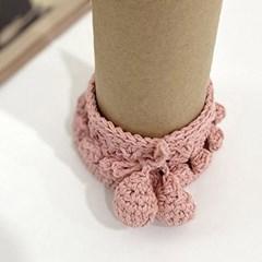 핑크 뜨개니트 의자발커버 4p set_(2116500)