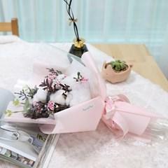 졸업식 입학 기념일 코튼플라워 안개꽃다발 중 핑크_(2239240)