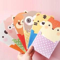러블리 동물친구 편지지(편지지4장+봉투2장)