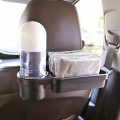 차량 뒷좌석 테이블 헤드레스트 간식 컵홀더 트레이_(1293174)