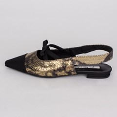 X bow slingback (bronze python)