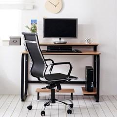 홈피스 집중형 선반책상 모니터받침대책상 홈오피스_(3245015)