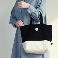 [corduroy tote bag] black