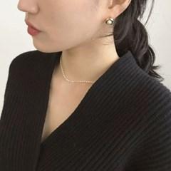 볼드펄 진주 귀걸이 (2colors)
