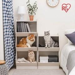 아이리스 고양이 아파트 캣타워 3단 고양이집 KSB-3S_(1872033)