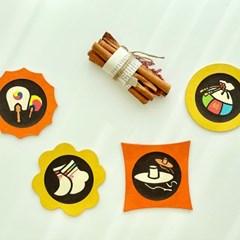 [한지공예] 의복소품 전통문양 티 코스터 DIY 키트