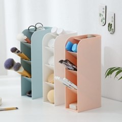 파스텔 사선형 화장소품 사무실 책상정리 수납 펜 꽂이 정리함 2type