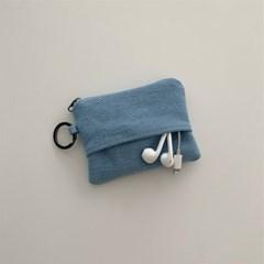 오픈포켓 카드지갑-데님(open pocket card wallet-denim)