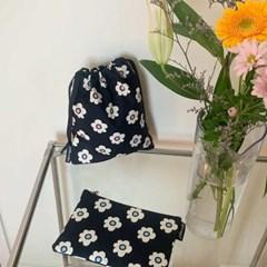 Retro flower string pouch m