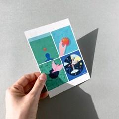 엽서_마음정원 Postcard_Garden of mind