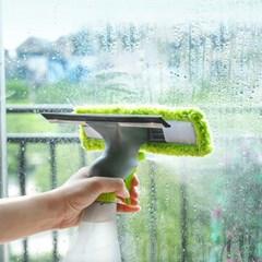 3in1 창문닦기 유리 창 청소 분무 스퀴지 윈도우 세차