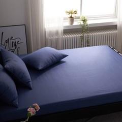 블럭 순면 홑겹 침대 매트리스 커버 S