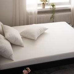블럭 순면 홑겹 침대 매트리스 커버 K