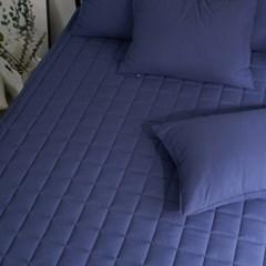 블럭 순면 누빔 침대 매트리스 커버 S