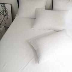 블럭 세미 홑겹 침대 매트리스 커버 K