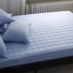 블럭 세미 누빔 침대 매트리스 커버 S