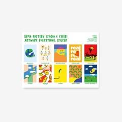 [KEEERI x BFMA] EVERYTHING 컬렉션 스티커