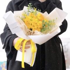실크플라워 프리지아 꽃다발
