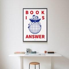 북 이즈 앤써2 M 유니크 인테리어 디자인 포스터 책 독서 도서관