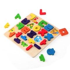 원목 한글+알파벳 입체퍼즐