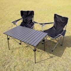 휴대용 접이식 알루미늄 특대형 롤테이블 캠핑선반 920*545 4인용