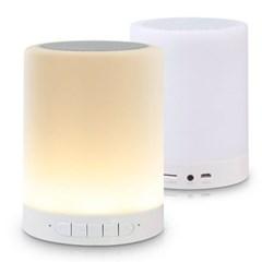 6컬러 LED조명 블루투스스피커 무드등 터치램프 FM라디오내장