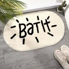 엠보싱 레터링 욕실 화장실 주방 발 매트 현관 러그 3color