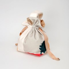 Fluffy daily scenery string bag
