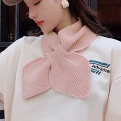 리본 쁘띠머플러(핑크)/ 겨울 미니 숏목도리