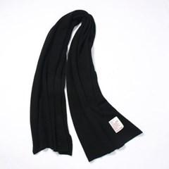 포근 니트 목도리 남녀공용 커플 겨울머플러(블랙)