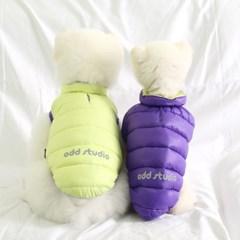 [ODD PET] 울트라 초경량 양면 패딩 자켓&베스트(옐로우&바이올렛)