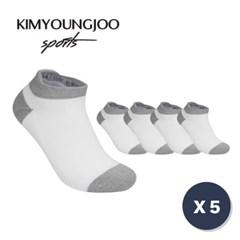 5팩 KYJ 로우컷 하이백 더블쿠션 남녀 골프양말 세트_(1720730)