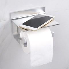 신개념 무타공 접착식 욕실 스마트 선반형 휴지걸이