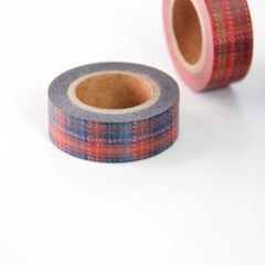 Winter Check Masking Tape [Royal Navy]